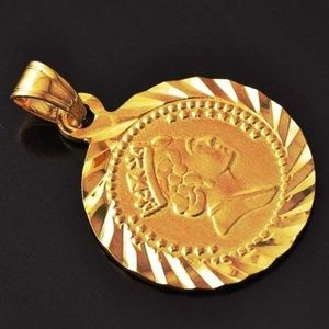 Jewelry - European Vintage Coin Gold Medal Pendant /chain